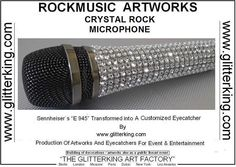 BLING MICROPHONES, GLITTER MICROPHONES, SWAROVSKI MICROPHONES, SPARKLE MICROPHONES, DIAMOND MICROPHONES