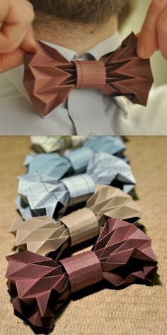 truebluemeandyou:  DIY Origami Bow Tie Tutorial from Fiber Lab here.I initially didn't post this because I thought it was really really difficult, then a new post with more instructions came out. For more Father's Day DIYs (like a 3D foldable tool box card) go to my kids' craft blog here:unicornhatparty.com/fathers-day