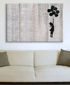 Another great find on #zulily! Flying Balloons Girl Wrapped Canvas #zulilyfinds
