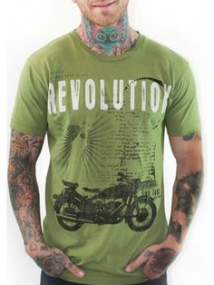 """Men's """"Live Fast"""" T-Shirt by 7th Revolution (Green) #inkedshop #livefast #green #revolution #usa #america #graphictee"""