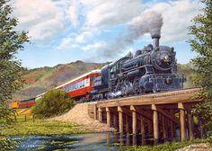American Railway Paintings by artist Marc Desobeau