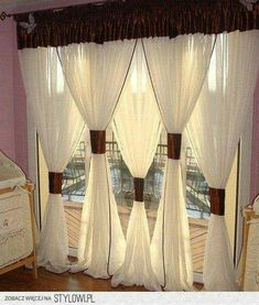 DIY Bay Window Curtain Rod for Less budget Bay Window Curtains bedroom diy small decor livingroom ideas valences This DIY Bay Window Curtain DIY Bay … Hang Curtains Like A Pro, Diy Bay Window Curtains, Window Curtain Rods, Hanging Curtains, Drapes Curtains, Shower Curtains, Apartment Curtains, Valances, Outdoor Curtains