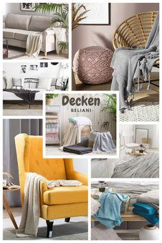 Die warme Kuscheldecken aus feinstem Material für gemütliche Momente auf dem Sofa oder auf der Terrasse. Modern, Material, Rest, Throw Pillows, Home, Patio, Be Creative, Waiting, Ceilings