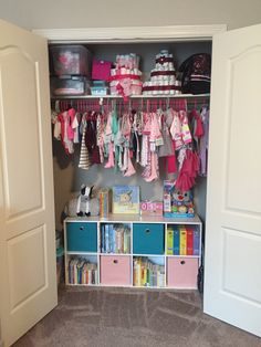 Baby nursery themes, baby boy rooms, baby bedroom, toddler rooms, nursery r Baby Bedroom, Baby Boy Rooms, Kids Bedroom, Toddler Closet Organization, Baby Nursery Organization, Baby Girl Closet, Kid Closet, Baby Nursery Themes, Nursery Ideas