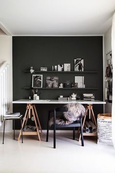 Inspiration Home Office Design Ideas. Hence, the need for home offices.Whether you are intending on adding a home office or renovating an old space into one, right here are some brilliant home office design ideas to assist you begin. Home Office Design, Home Office Decor, House Design, Home Decor, Office Ideas, Office Inspo, Office Furniture, Furniture Design, Gothic Furniture