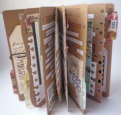 libro de viaje hecho de cajas de pizza