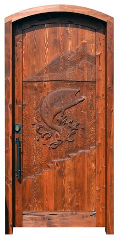 Cabin Door - Hand Carved Door - HCD5534