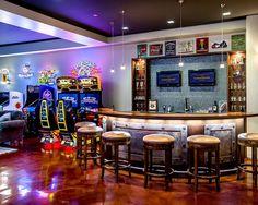 arcade basement design    #CustomHomeBuildersinAustin