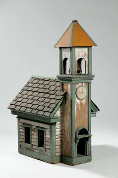 folky church birdhouse
