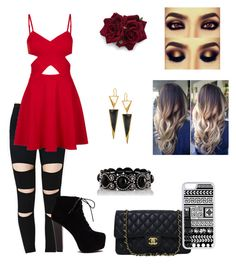"""""""Sexyy *-*"""" by katjag596 ❤ liked on Polyvore featuring Mode, Topshop, Chanel, CellPowerCases und Lana"""