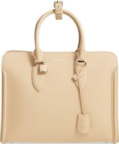 •Website: http://www.cuteandstylishbags.com/portfolio/alexander-mcqueen-blonde-heroine-calfskin-leather-tote/ •Bag: Alexander McQueen Blonde 'Heroine' Calfskin Leather Tote
