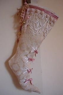 ...this reminds me of something my daughter Shay might like...look Shay, it's a 'high heeled' Christmas stocking!!!!