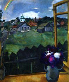 MARC CHAGALL Window Vitebsk (1908)