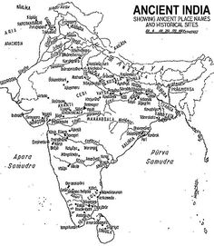 Ancient India Map | Coinage -- Ancient India Map