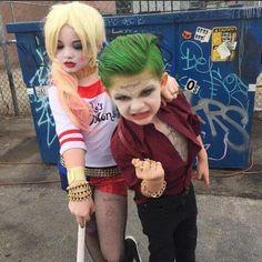 """アメコミ映画情報さんのツイート: """"ジョーカーとハーレイ・クインのコスプレをした子供達!可愛いですね(´∀`)…"""