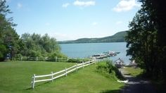 A placid scene from the Bayside Inn, #Cooperstown NY