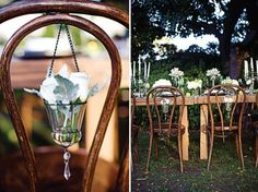 Dress Up Your Wedding Chairs - Belle The Magazine Wedding Chair Decorations, Wedding Chairs, Gatsby Wedding, Dream Wedding, Wedding Bells, Wedding Designs, Wedding Styles, Floral Chair, Vintage Air
