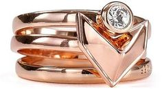 Rebecca Minkoff Heart Stack Ring on shopstyle.com