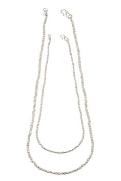 Etna Double Long Necklace - Super versatile these long strand faceted necklaces can be worn simply on their own or layered together to create a statement look. Mix and Match all the clasps fit into each other with a seamless look. They come in the lenghts 16, 18 and 30 inches.   These beautiful Etna Collection Necklaces are made to be layered together, If you are buying them together we offer a small discount. Sterling Silver Mix N Match, Collections, Necklaces, Pendant Necklace, Sterling Silver, Create, Fit, Stuff To Buy, Beautiful