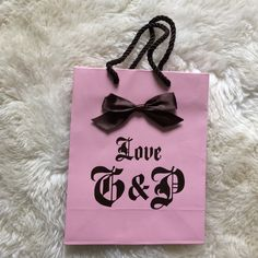 JUICY COUTURE paper shopping bag 8x10