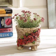 Enchanting Engraved Rose Patterned 85 Cm Planter Pot India Send Birthday Gifts Mother