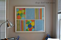 An Old Window Becomes a Dry-Erase Memo Board