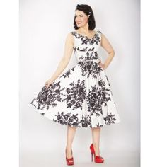 Black and White Belted Swing Dress perfect for you next special occasion! As seen on Glee!