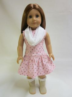 18 inch American Girl Doll Clothes  Pretty Pink by IndustriousDog, $11.00