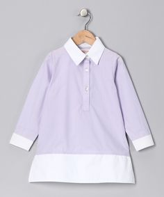 Lavender & White Tunic Dress- Betti would love this.