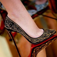 Embroidered Heels ✨♥️ #Louboutin