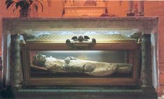 St. Vincent Pallotti - Died in 1850 and was exhumed and found incorrupt and sweetly scented in 1906 and again in 1950. His body is on display under the main altar in the Church of St. Salvatore in Onda, Italy.