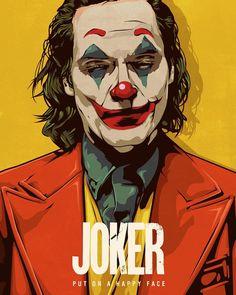 Da devin doty illustrator put on a happy face finished! whos excited for this movie i think joaquin phoenix is an amazing actor and will do the joker justice gemie dnyoruz! Le Joker Batman, Der Joker, Joker Art, Joker And Harley Quinn, Gotham Batman, Batman Art, Batman Robin, Joker Poster, Movie Poster Art