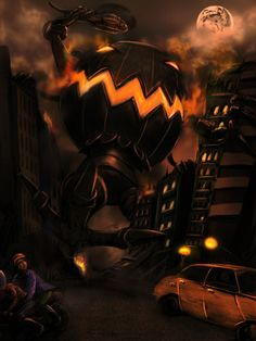 Halloween in the city by *whiteguardian on deviantART