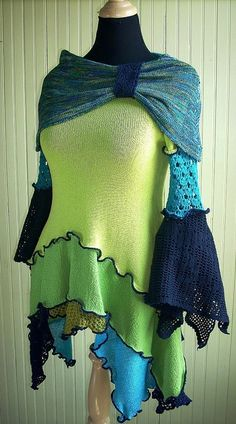 Brilliant Green and Turquoise Tunic | Flickr - Photo Sharing!
