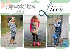 "E-Book+Steppweste/Jacke+""Liivi""+Kids+von+FeeFee++auf+DaWanda.com"