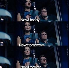 Look at petas face when she said newt forever. He is like I thought I was your forever.It is priceless
