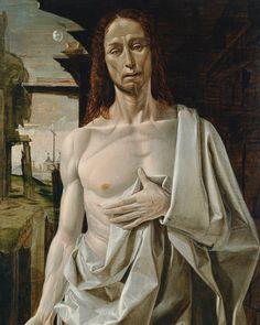 L'uomo della sindone 1 - Bramantino, Cristo risorto (1490 circa), olio su tavola. Madrid, Museo Thyssen-Bornemisza (Scala)