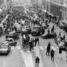 5:00 P.M. September 3rd 1967 Sweden changed from driving on the left side to driving on the right