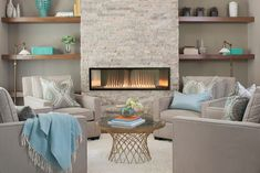 Empire Boulevard Vent-Free Linear Fireplace with Remote Control. Beautiful elegant and efficient your Boulevard fireplace will add warmth to your home. Vent Free Gas Fireplace, Linear Fireplace, Craftsman Fireplace, Contemporary Gas Fireplace, Modern Stone Fireplace, Family Room Fireplace, Fireplace Ideas, Fireplace Remodel, Furniture Around Fireplace