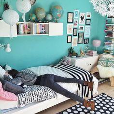 Türkis.... Decorating Toddler Girls Room, Diy Room Decor For Girls, Teal Girls Rooms, Girls Bedroom, Diy Little Girls Room, Teal Room Decor, Teenage Girl Bedroom Designs, Turquoise Room, Beautiful Pictures