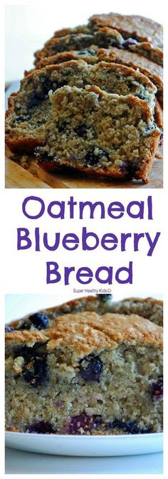 Eat Stop Eat To Loss Weight - FOOD - Oatmeal Blueberry Bread. This bread is simply delicious! - In Just One Day This Simple Strategy Frees You From Complicated Diet Rules - And Eliminates Rebound Weight Gain Bon Dessert, Dessert Bread, Breakfast Recipes, Dessert Recipes, Healthy Baking, Healthy Kids, Healthy Recipes For Kids, Healthy Meals, Eating Healthy
