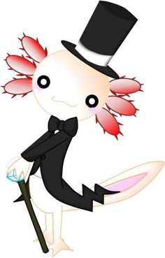axolotl with a top hat