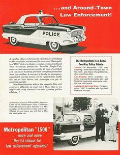 Vintage Ad for Metropolitan 1500 police car
