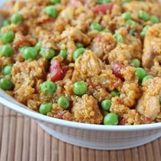 Curried Quinoa with Chicken and Peas Recipe