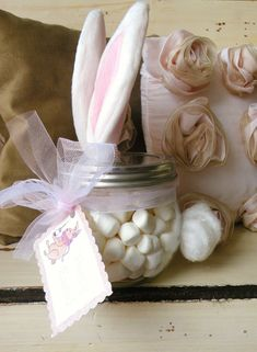 Maybe for the easter baskets? since my kids drink a ton of hot chocolate, they can have their own jars of marshmallows