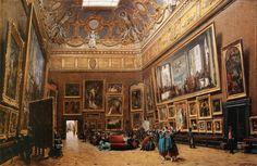 louis beroud | File:Giuseppe Castiglione - View of the Grand Salon Carré in the ...