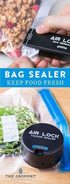 These handheld sealers, discovered by The Grommet, use heat to create airtight, water-resistant seals in seconds. Works on ziplocks, snack bags, and more.