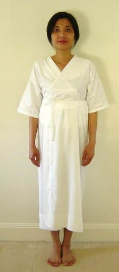 Hadajuban - KIMONO ENCYCLOPAEDIA - Go Japan Go Hadajuban� is the first undergarment worn in the kimono attire. It is so named as it is worn next to the skin.  Note 1: As the kimono is cut in a straight pattern / shape, padding is often needed around the waist and/or bust. A padding similar to the one shown in the picture can be worn to fill / level off body curves.That padding is worn underneath the �hadajuban�.