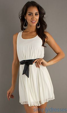 Short Sleeveless Dress at SimplyDresses.com