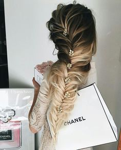 fishtale braid, hair, long hair, hair accessories, hair jewels, hairstyle, nude…